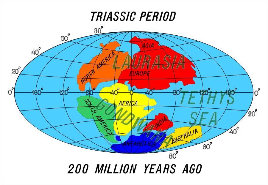 supercontinente pangea periodo triasico