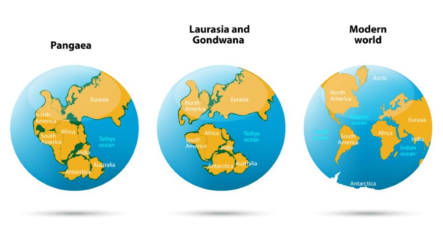 ruptura supercontinente pangea