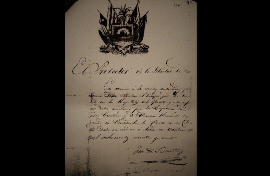 carta firmada san martin