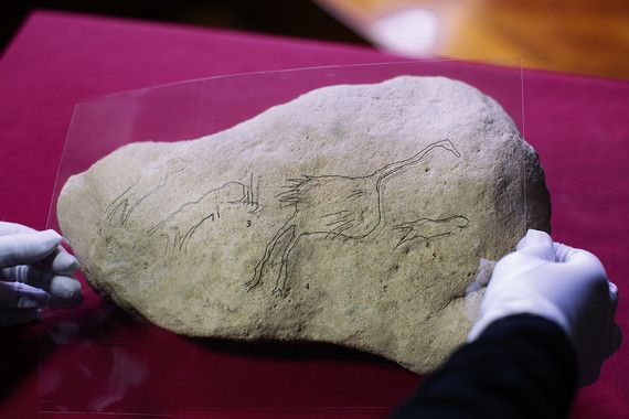 pintura paleolitico con aves