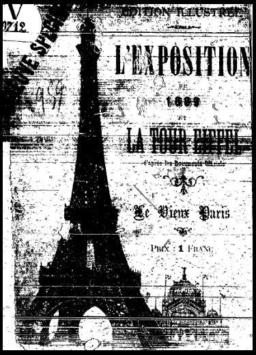 cartel exposicion universal y tour torre eiffel