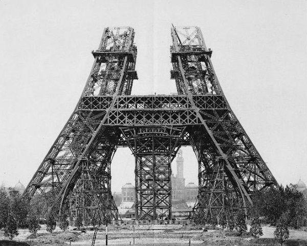 montaje segundo nivel torre eiffel