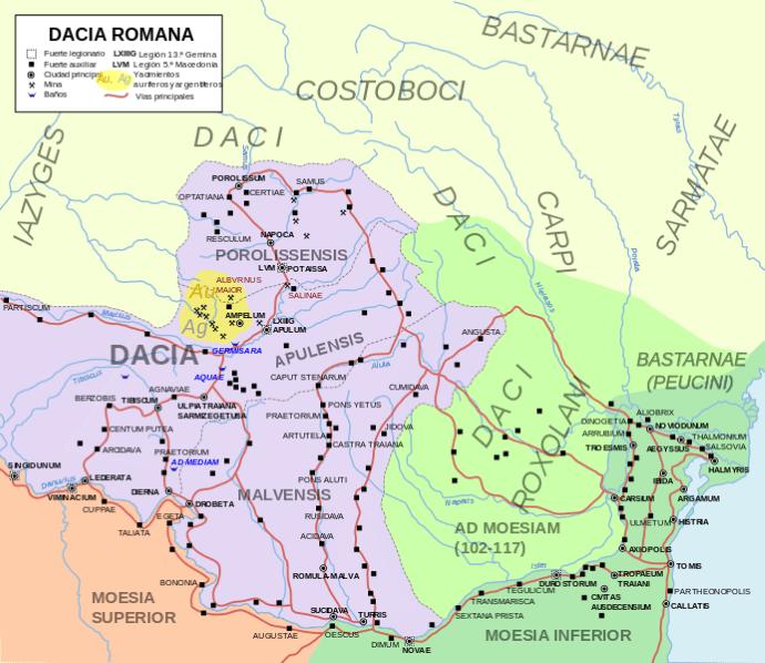 mapa dacia romana