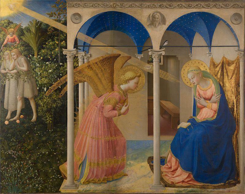 La Anunciación de fra angelico antes restauracion