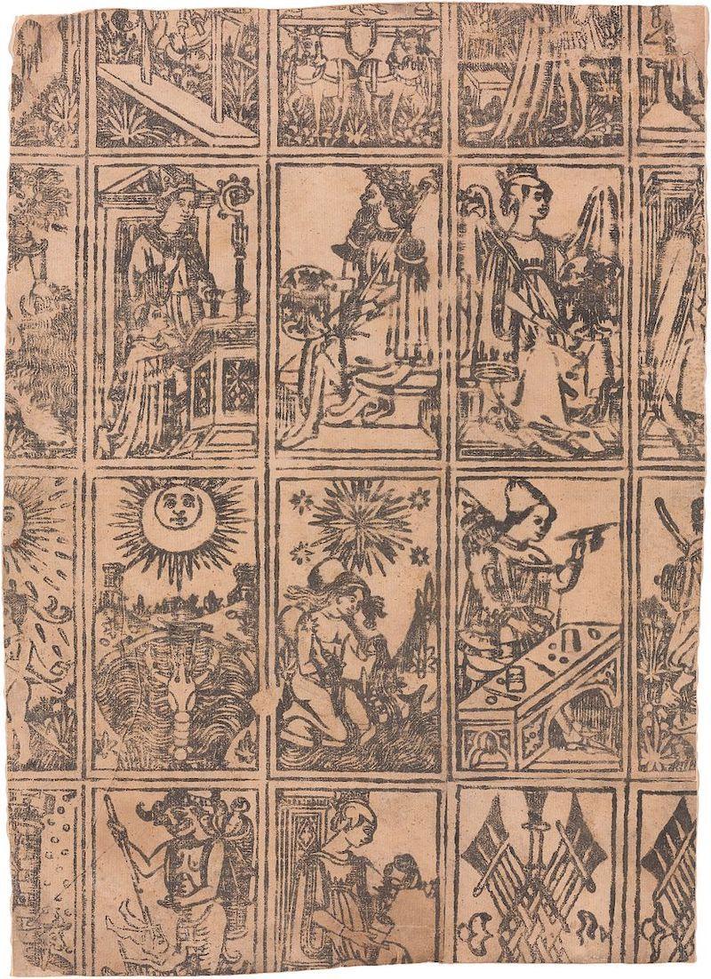 cartas del tarot de milan