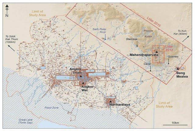 mapa arqueologico gran angkor
