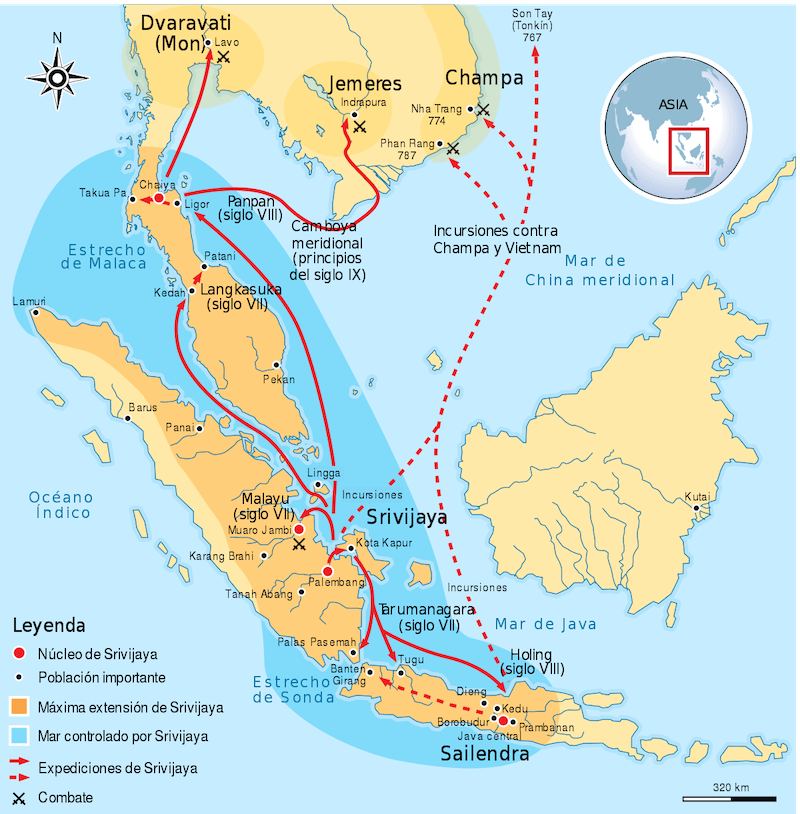 mapa de Srivijaya