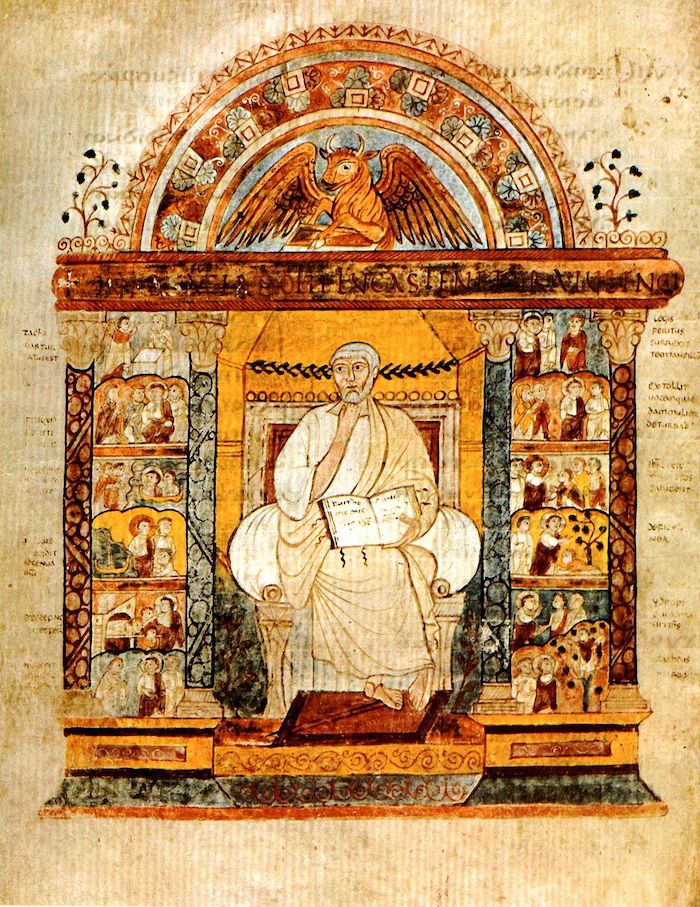 manuscrito medieval evangelio de san agustin