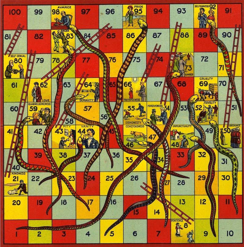 juego serpientes y escaleras