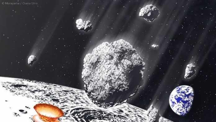 lluvia asteroides millones de años