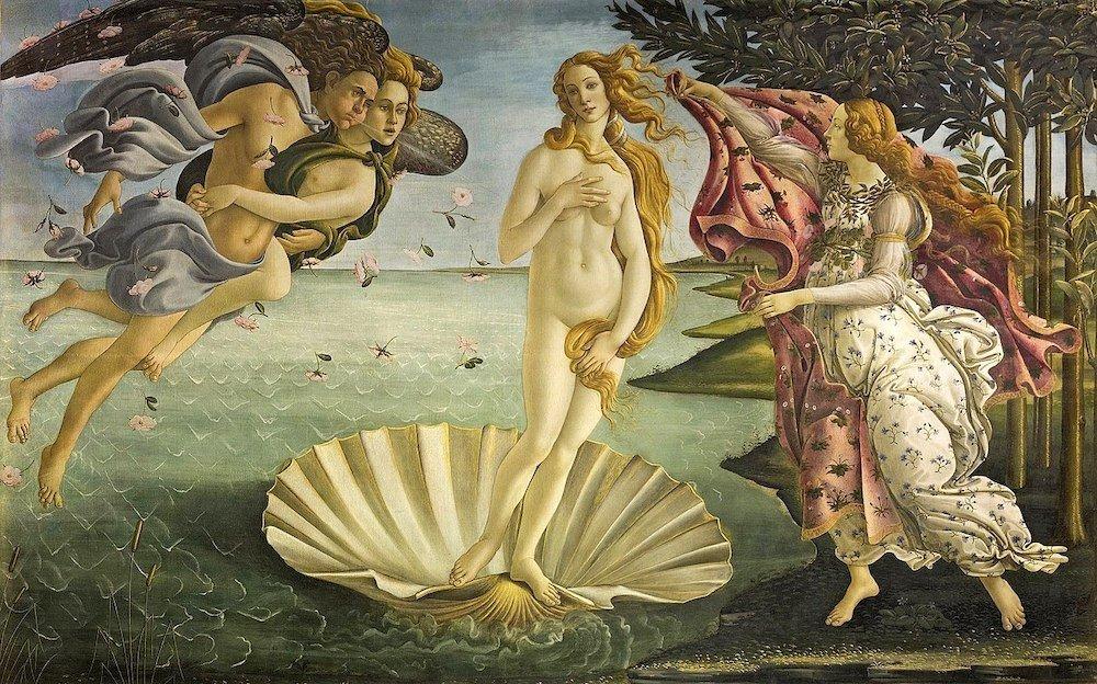 nacimiento de venus botticelli