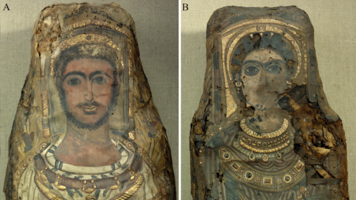 retratos de las momias con organos vitales