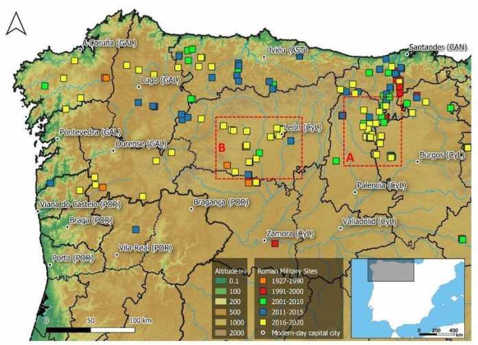 mapa campamentos romanos españa