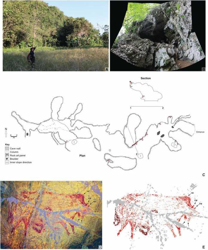 arte rupestre mas antiguo del mundo indonesia