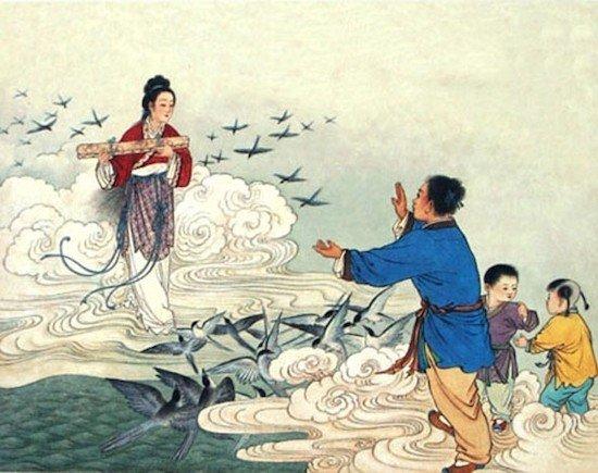 leyenda arriero y tejedora china