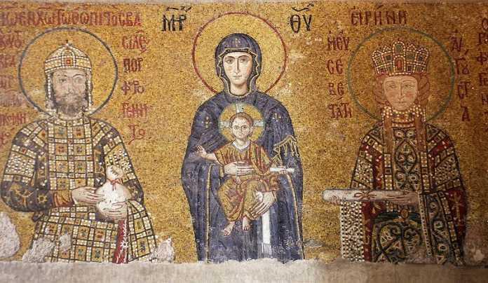 mosaico bizantino santa sofia
