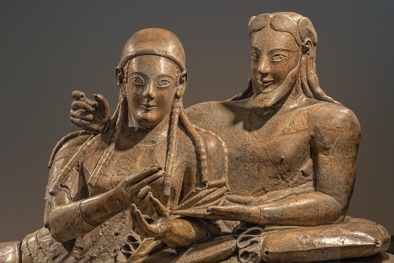 sarcofago etrusco de los conyuges