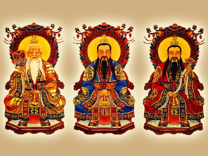 tres puros mitologia china