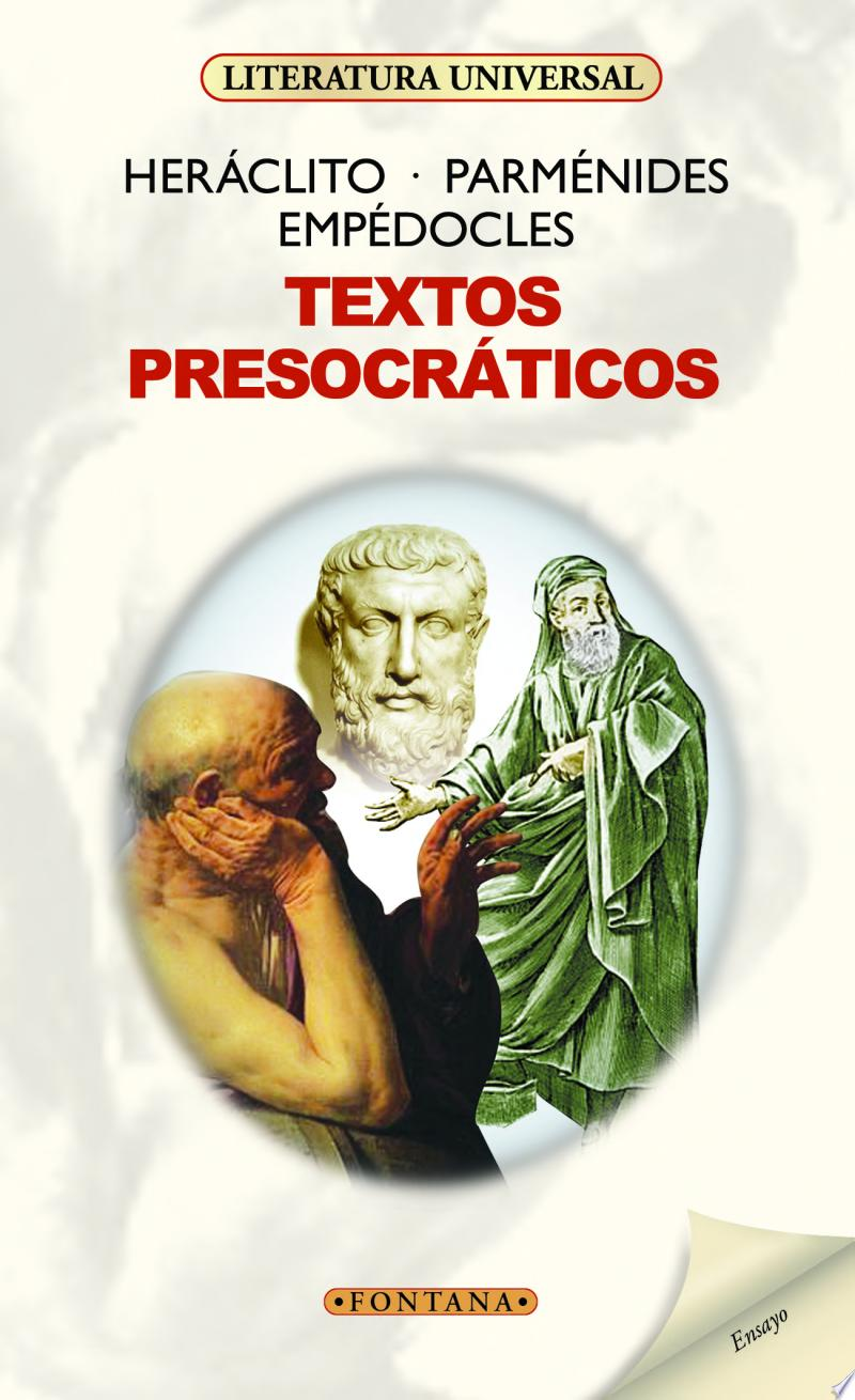 portada libro textos presocraticos