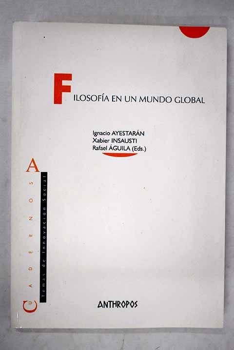 portada filosofia en un mundo global
