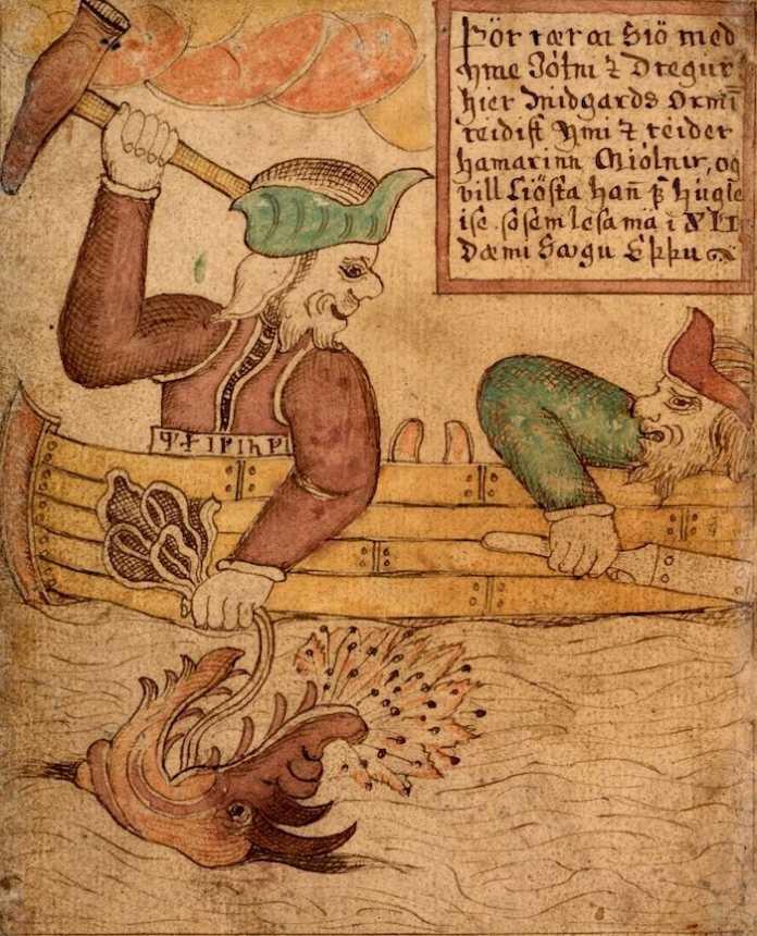 thor y hymir pescando