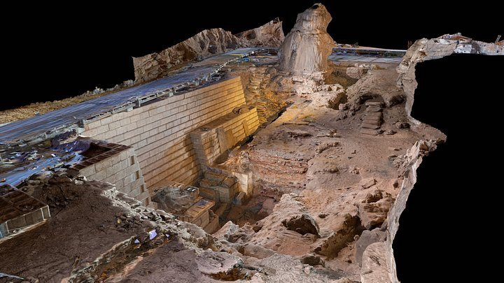 reconstruccion 3d del area excavada de la cueva wonderwek
