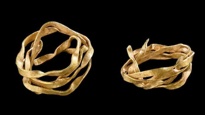 anillo oro 3800 años alemania