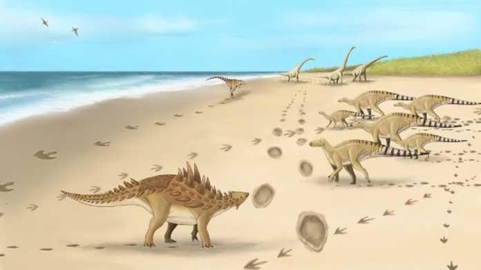 huellas dinosaurios reino unido