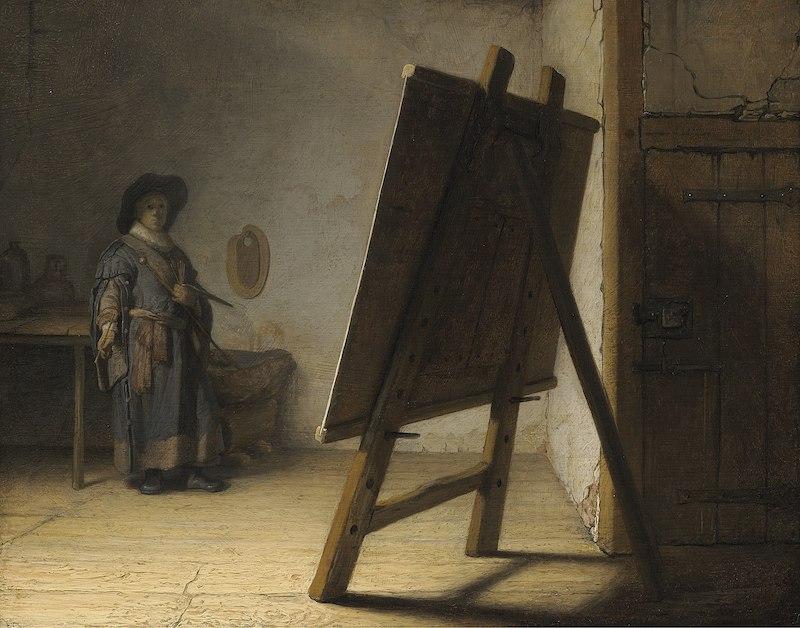el pintor en su estudio obra rembrandt