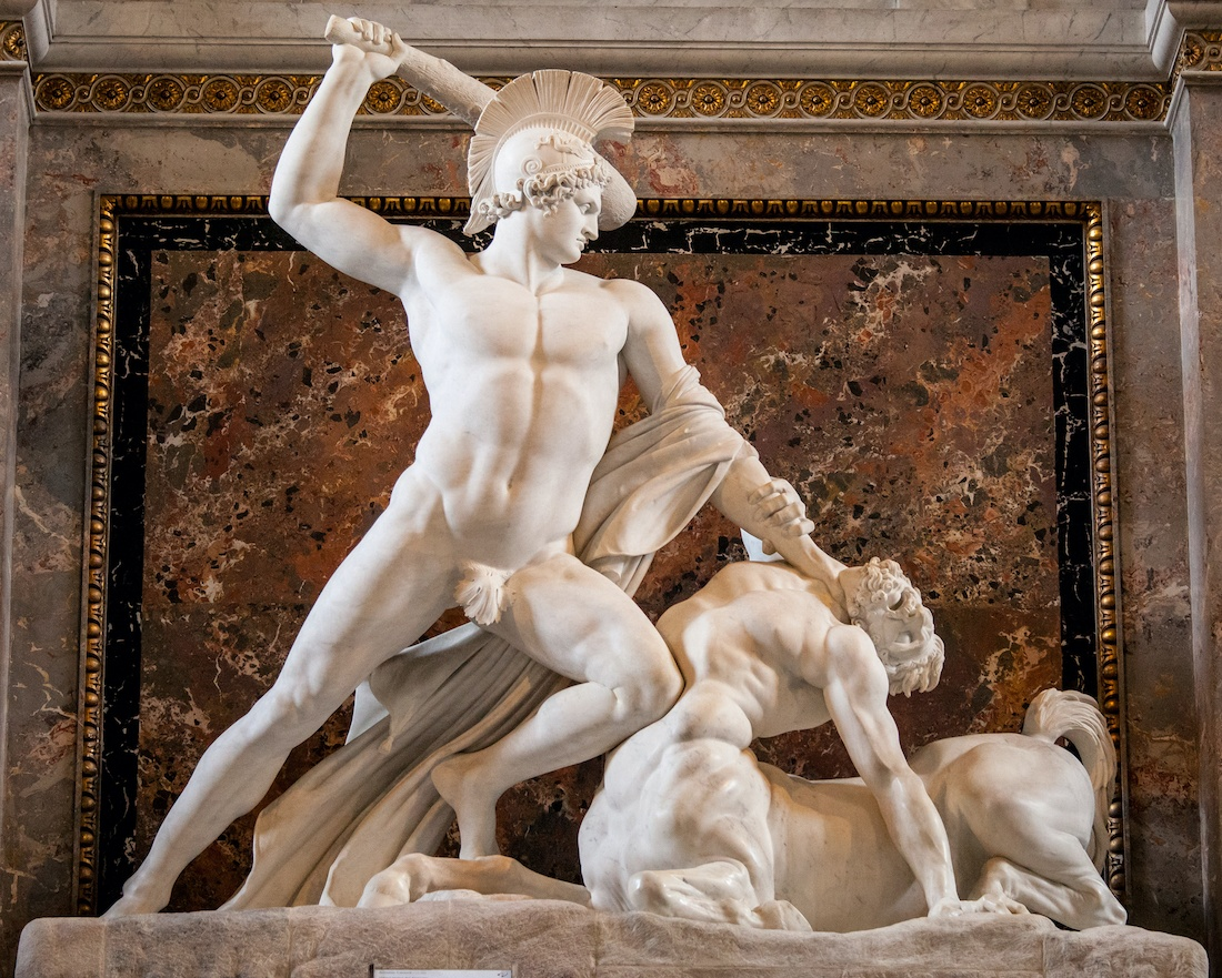 teseo y el centauro de antonio canova