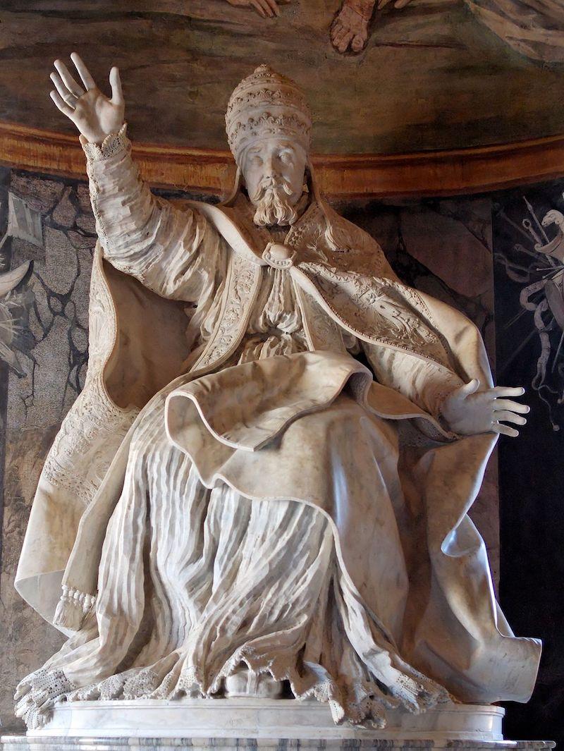 estatua papa urbano viii de bernini
