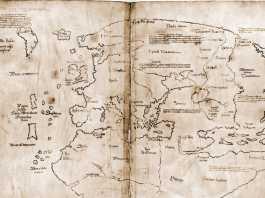 mapa vinlandia falso