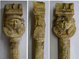 objetos arqueologicos egipto templo